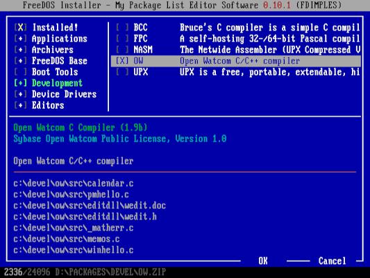 installing OpenWatcom