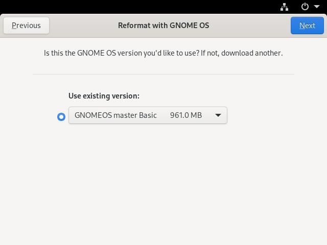 Installing GNOME OS