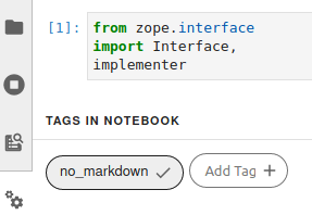Using tags in Jupyter Notebook