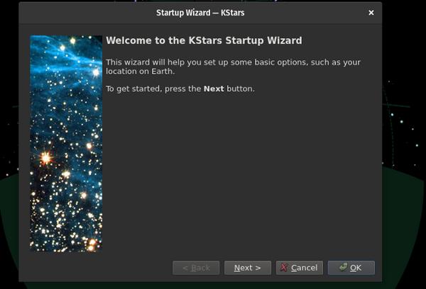 KStars Startup Wizard