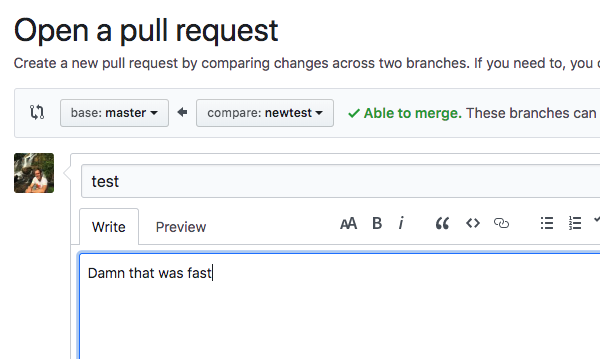 Open a pull request in Lazygit