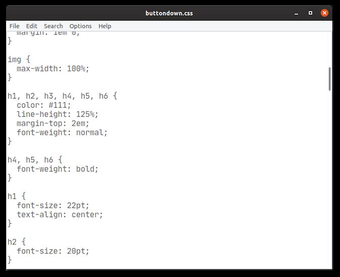Leafpad screenshot
