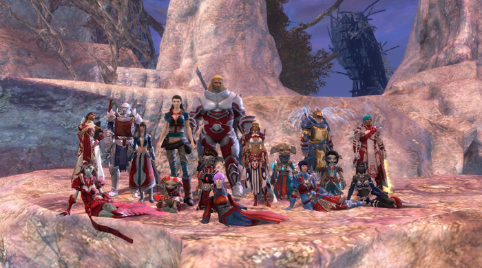 Guild Wars 2 guild members after an event.