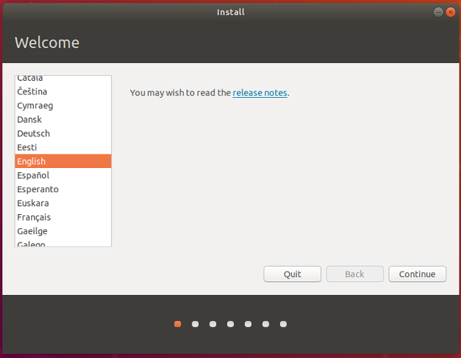 Select language in Ubuntu