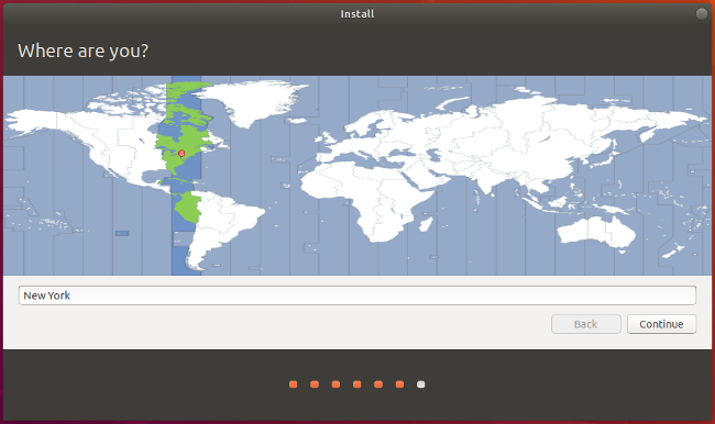 Select location in Ubuntu