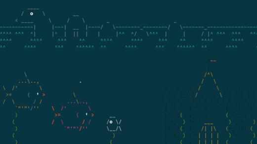 Take a swim at your Linux terminal with asciiquarium