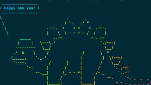 Linux toy: lolcat