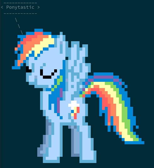Linux toy: ponysay output