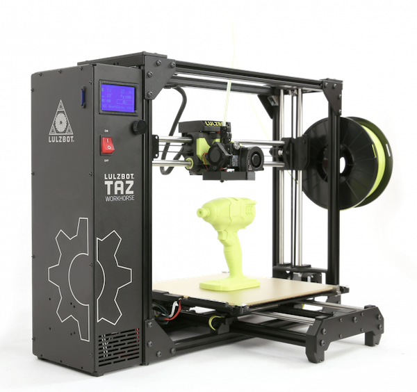 The LulzBot TAZ Workhorse by Aleph Objects.