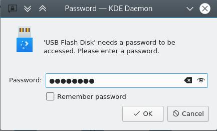LUKS password prompt