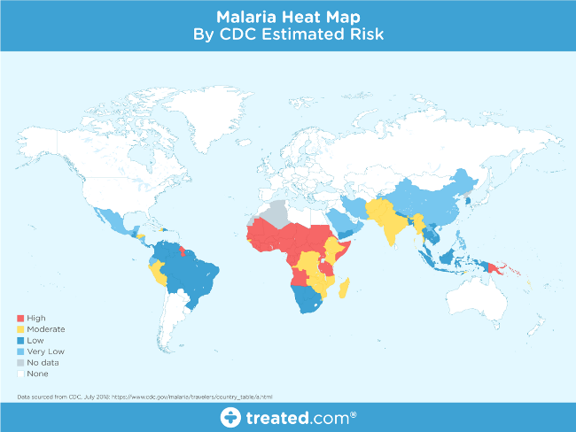Malaria heat map