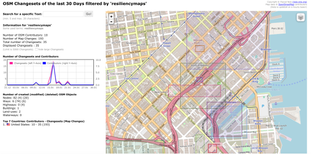 Resiliency Map uploaded to OSM