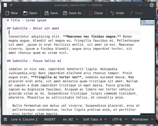 Italics text in Markdown