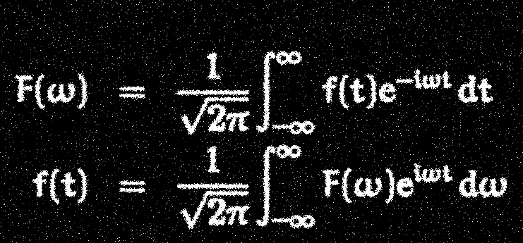 Equations of the Fourier transform and its inverse