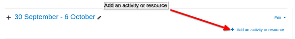 Add activity in Moodle