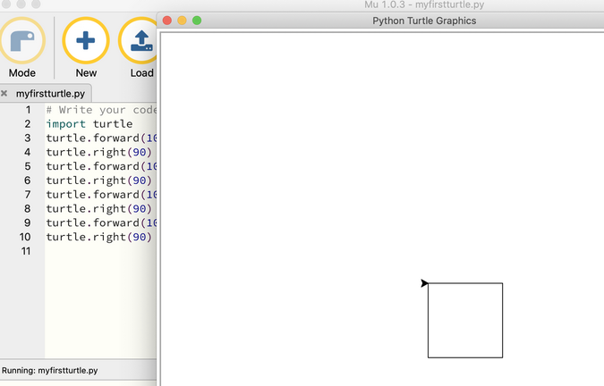 Running Python program in Mu