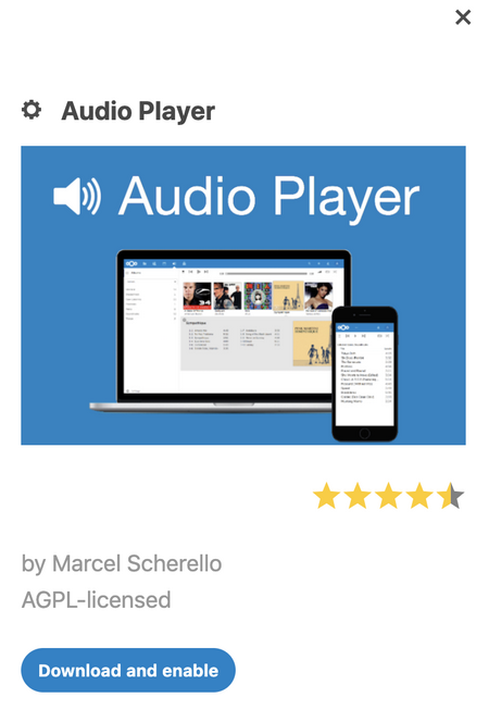 Nextcloud Audio Player