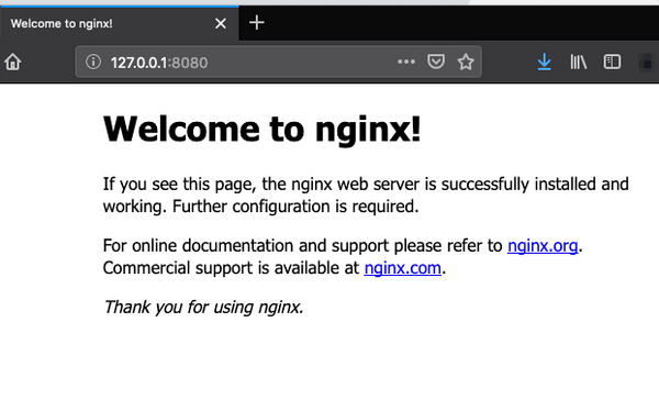 Nginx welcome screen