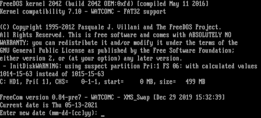 Without AUTOEXEC.BAT, the shell will prompt for date and time