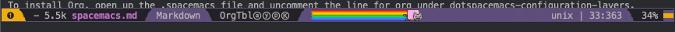 Nyan Cat progress bar in Spacemacs