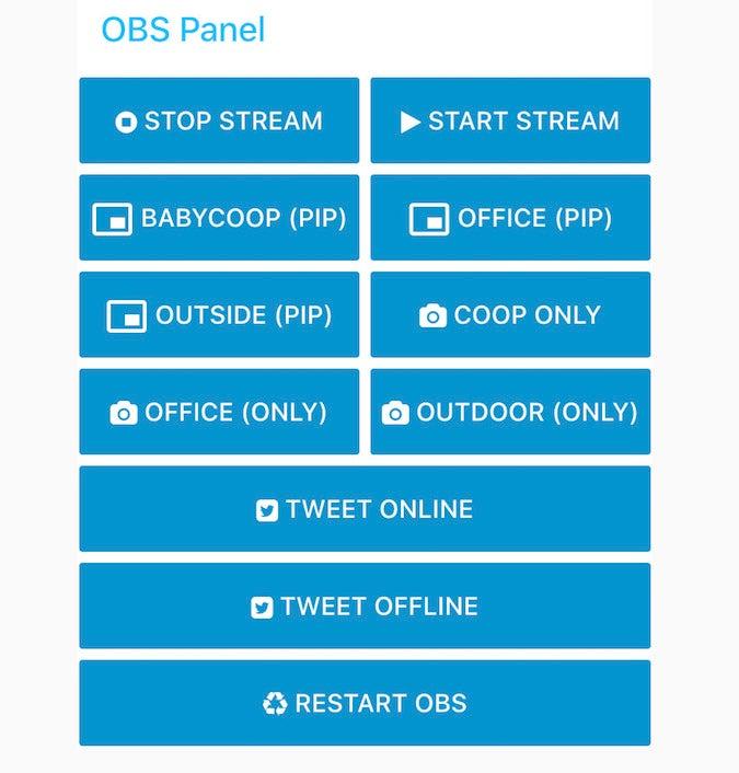 My OBS Control Dashboard