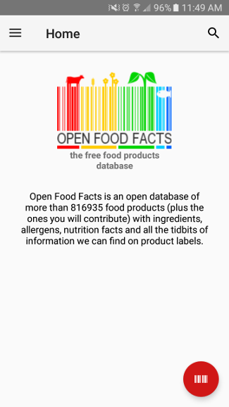 Open Food Facts app