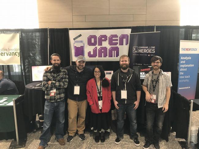 Participants at Open Jam 2018