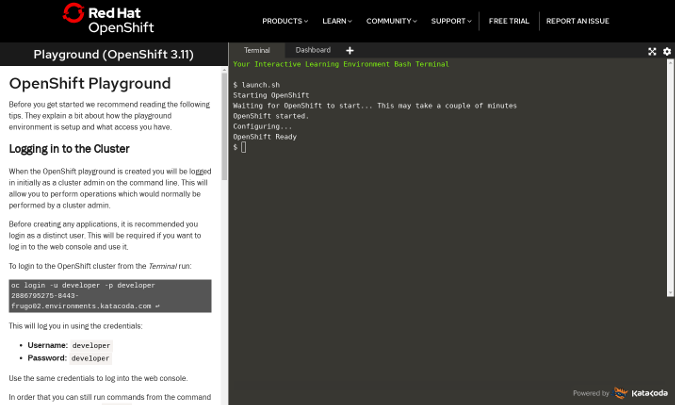 OpenShift Playground