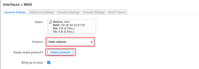 Assigning IP address manually