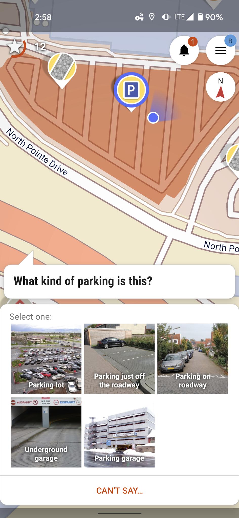 Parking lot type