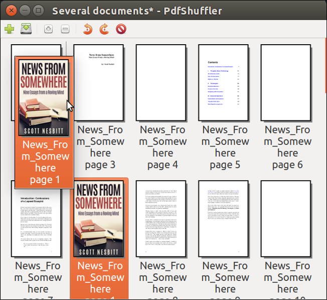 Two graphical tools for manipulating PDFs on the Linux