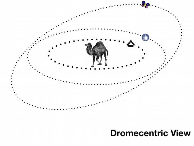 Dromecentric view