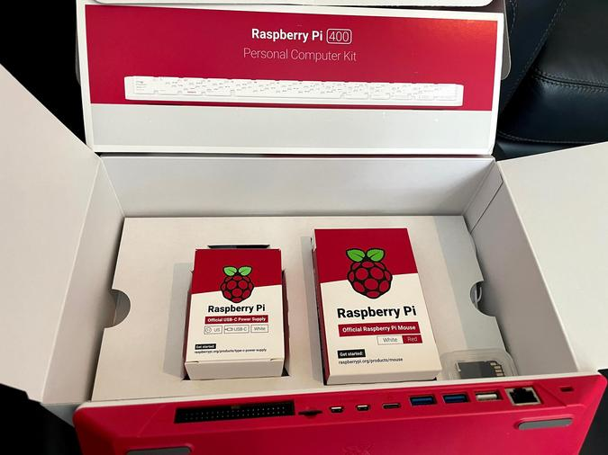 Raspberry Pi 400 inside box