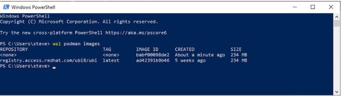 screenshot example of Windows PowerShell
