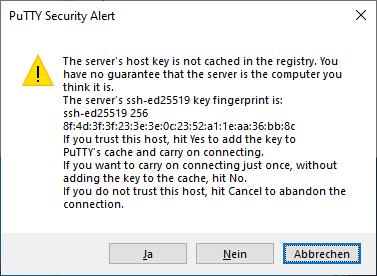 PutTTY security alert