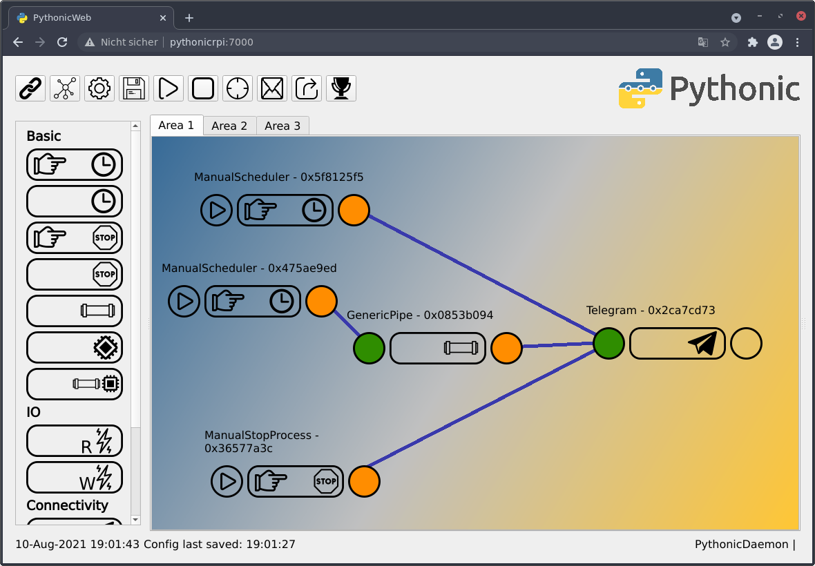 Pythonic GPIO remote configuration