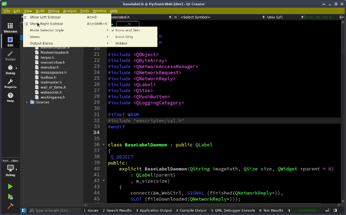 QT Creator custom stylesheet