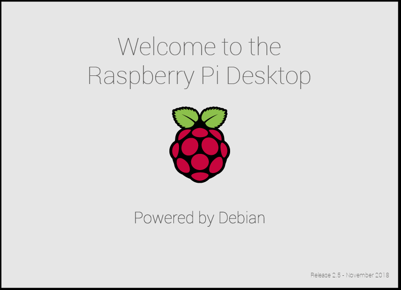 Raspian boot screen