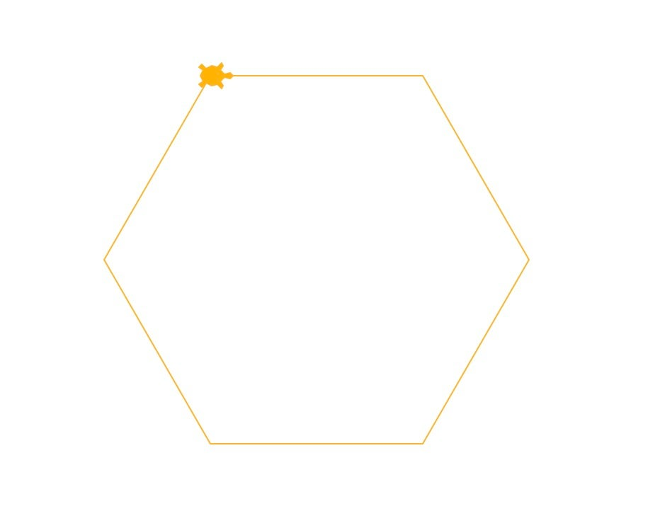 Logo drawn hexagon