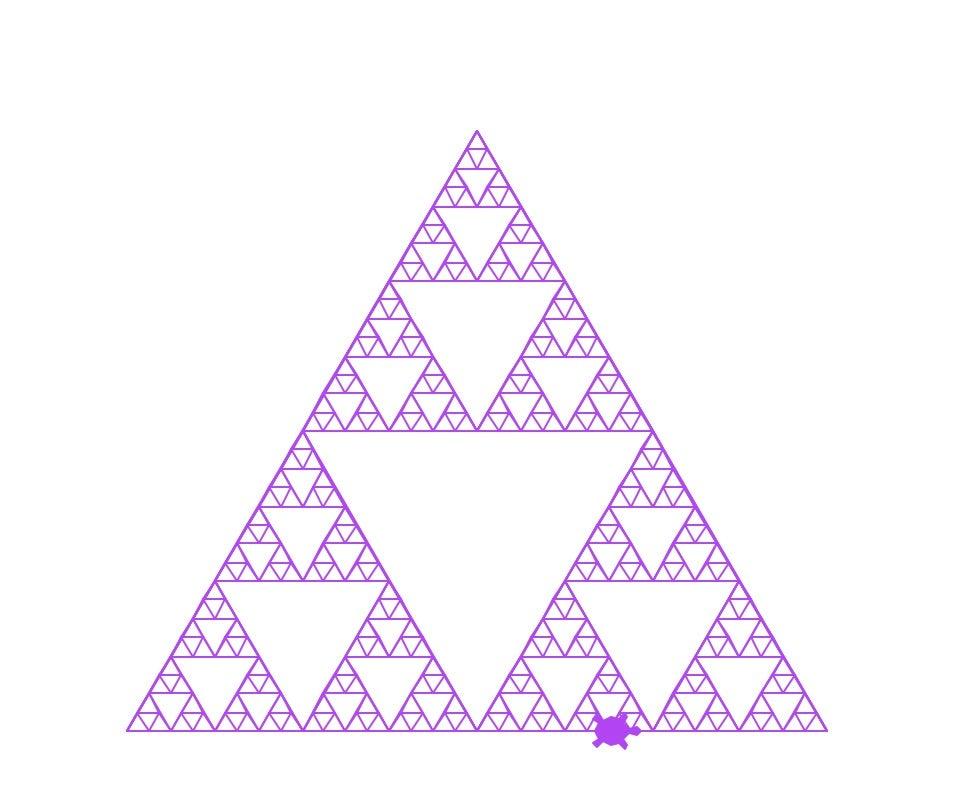 Logo drawn triangle