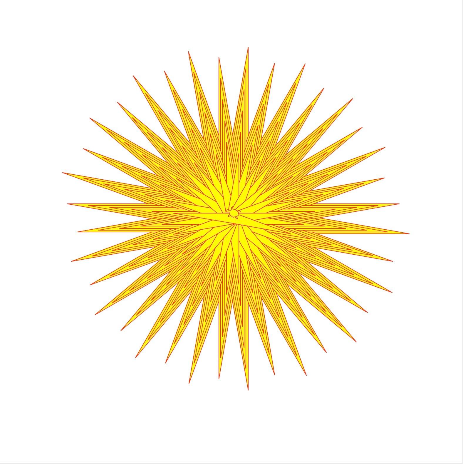 Logo drawn sunburst