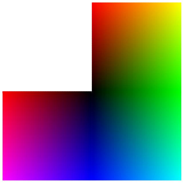 First half of RGB cube