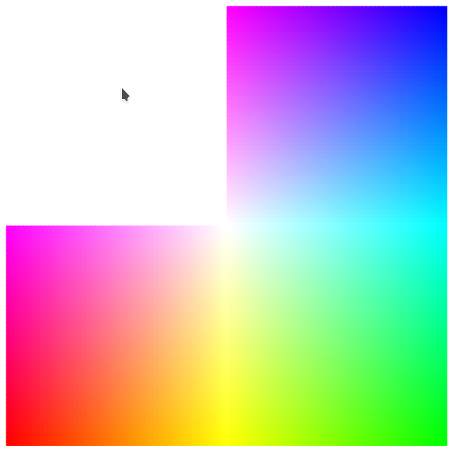 Second half of RGB cube