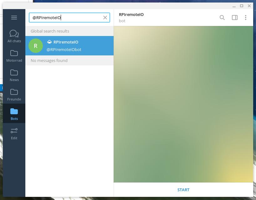 Start RPI Telegram