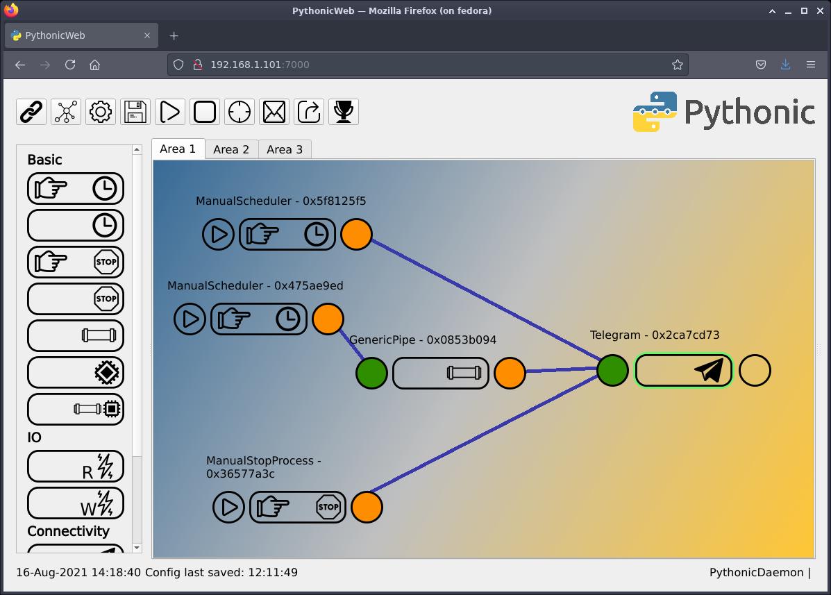 Active RPI Telegram element