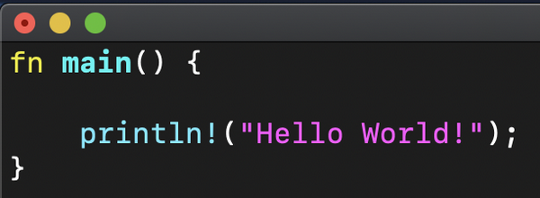 Rust code with syntax highlighting