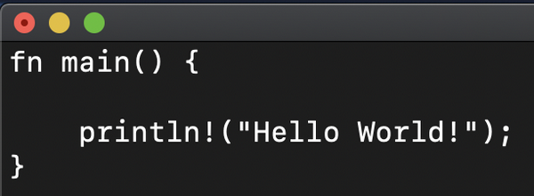 Rust code without syntax highlighting