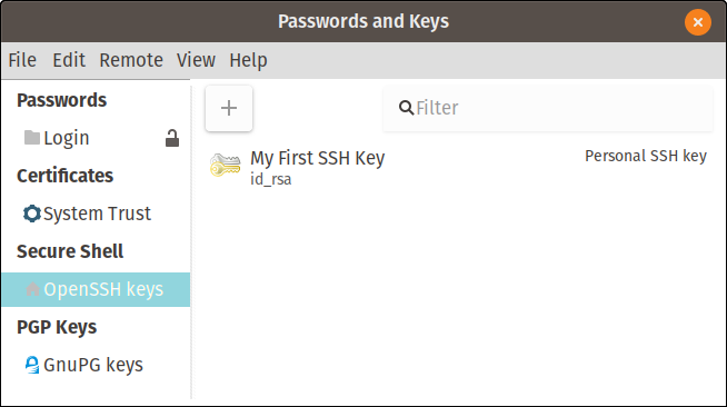 My first SSH key
