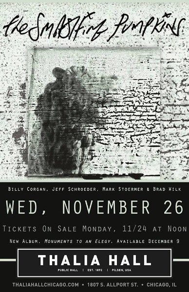 Smashing Pumpkins concert poster