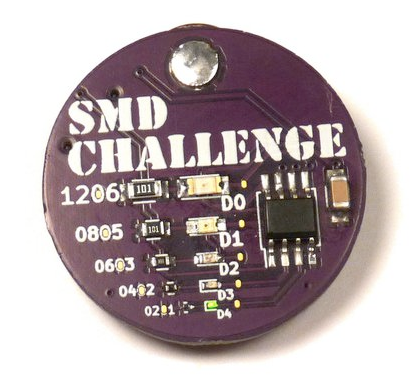 The SMD Challenge conference badge.